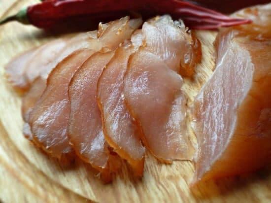 Карпаччо из куриной грудки сырокопченое 250 гр