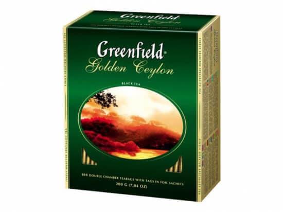 Чай Гринфилд GOLDEN CEYLON черный 100 пакетов