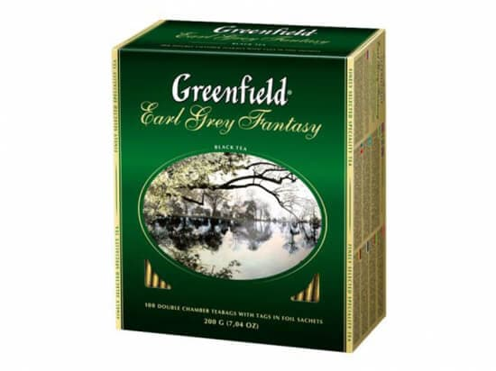 Чай Гринфилд Earl Grey fantasy (бергамот) 100пакетов