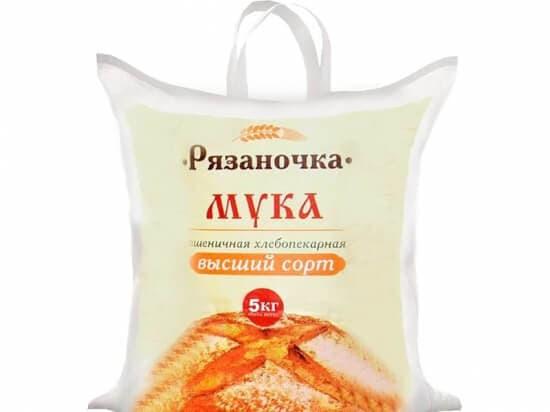 """Мука в\с """"Рязаночка"""" 5 кг."""