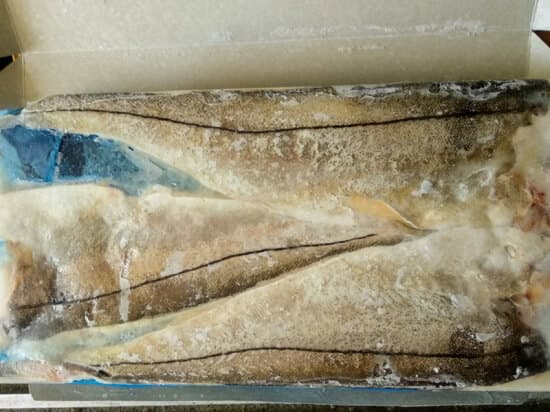 Филе пикши на коже замороженное
