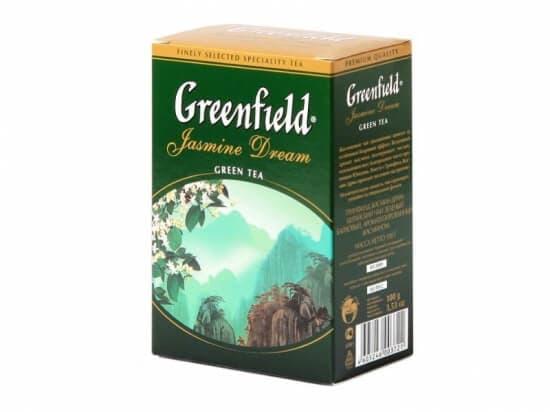 Чай Гринфилд Jasmine Drim (зеленый с жасмином)100 пакетов
