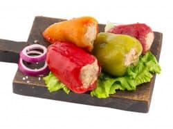 Перец фаршированный овощной постный
