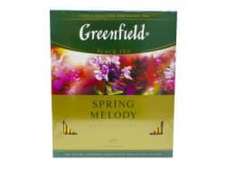 Чай Гринфилд Spring Melody (черн с чабрец) 100 пакетов
