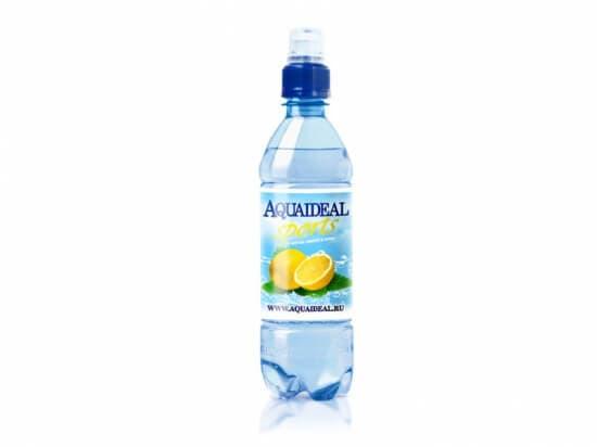 """Вода""""АкваИдеал""""Спорт лимон и мята*0,5 л."""